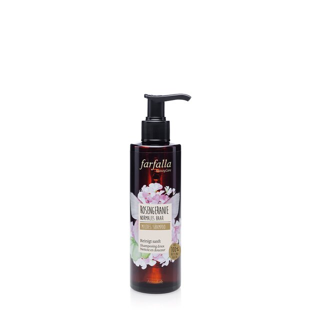 Natural Hair Care, Mildes Shampoo - Rosengeranie